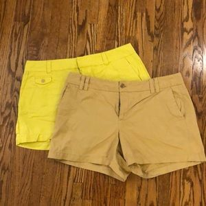 Pair of Women's loft size 10 chino shorts